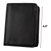 Shield Shape Black Leather Badge Wallet Closed View Scaled for Dimensions
