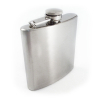 8oz Chrome Stainless Steel Portable Hip Flask Closed