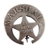 United States Indian Territory Marshal Old West Badge