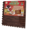 4pc Interlocking Square Cushioned Floor Mat Set with Ash Wood Grain Finish with Scale