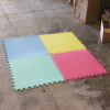 64 Square Foot Interlocking Foam Wood Grain Puzzle Mat Floor Tiles - Multicolor