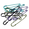 Large Colored Safety Pins for Craft Repairs