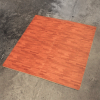 4 Piece Interlocking Square Cushioned Wood Design Floor Mats