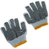 Universal Dot Grip Non-Slip Gardening Gloves Multi-purpose Utility Black 6 Pack