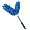 Universal Dual Head Flex Neck Telescopic Feather Duster Extendable 46.5in Blue