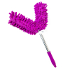 Universal Dual Head Flex Neck Telescopic Feather Duster Extendable 46.5in Purple