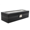 6 Watch Valet Storage Case and Pillows With Lock and Key