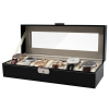 6 Watch Valet Case With Dividers, Pillows, Lock, and Key Pillow View2