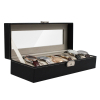 6 Watch Valet Case With Dividers, Pillows, Lock, and Key Pillow View1