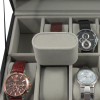 12 Watch Valet Storage Case and Pillows With Lock and Key