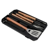 Grill implements utensils spatula fork tongs kabob skewers 7 piece set