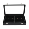 Black Jewelry Box 4 Liner Tray 1