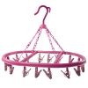 16 Clip Hooks Hanging Clothes Dryer Collapsible Laundry Pink