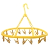 16 Clip Hooks Hanging Clothes Dryer Collapsible Laundry Yellow