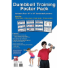 Dumbbell Exercises Laminated Fitness Poster 4 Pack