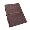 Leather Bound Journal Tree of Life Embossed Diary Tied Closed