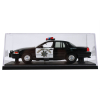 California Highway Patrol Police Car Replica 1:24 Scale in Display Case