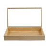 Wooden Display Case Jewelry Box Open