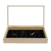 Wooden Display Case Jewelry Box & 32 Compartment Liner Tray