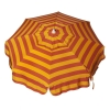 Italian 6 foot Push/Tilt Umbrella Acrylic Stripes Pink and Orange - Patio Pole