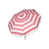 Italian Push/Tilt 6 foot Umbrella Acrylic Stripes Pink and White - Patio Pole