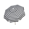Italian 6 foot Push/Tilt Umbrella Acrylic Stripes Black and White - Patio Pole