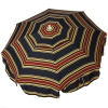 Italian 6 foot Push/Tilt Umbrella Acrylic Stripes Navy Blue and Red - Patio Pole