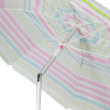 7ft Tilt Outdoor Aluminum Beach Umbrella for Home Patio Sun Shade - Pink Stripe
