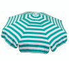6ft Italian Market Tilt Umbrella Home Patio Sun Canopy Green Stripe - Beach Pole