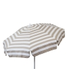 Italian 6 foot Push/Tilt Umbrella Acrylic Stripes Khaki and White - Patio Pole