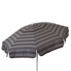 Euro 6 foot Umbrella Acrylic Stripes Grey and Chocolate - Patio Pole