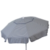 Euro 6 foot Umbrella Acrylic Thin Stripes Vanilla Navy - Patio Pole