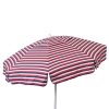 Euro 6 foot Umbrella Acrylic Red White and Blue Stripes - Patio Pole