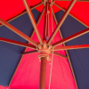 Outdoor Living Cinzano Market Umbrella - 9ft Wood Ribs