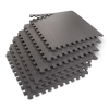 Grey Puzzle Mat Flooring Set for Home Use
