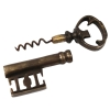 Vintage wine opening corkscrew key and bottle opener unsheathed view