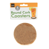 Universal Handy Helpers Round Cork Coasters Bar Kitchen Counter Protector 4pc