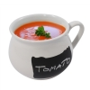 16oz Chalkboard Soup Mug with Soup