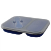 Dual Compartment Collapsible Food Storage Container with Lid