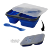 Dual Compartment Collapsible Food Storage Container