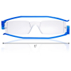 Nannini Italy Compact Blue Reading Glasses - 2.5 Optic Strength with Scale