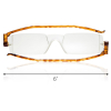 Reading Glasses Nannini Italy Vision Care Unisex Ultra Thin Readers Tortoise 1.0