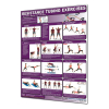 Productive Fitness Poster Series Upper Resistance Tubing Exercises Non-Laminated