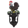 Vintage Cast Iron Ranch House Rooster Door Knocker