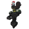 Lifted View Vintage Cast Iron Ranch House Rooster Door Knocker