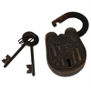 Antiquated Union Pacific Railroad Padlock and Keys Collectible