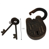 Scaled Antiquated Union Pacific Railroad Padlock and Keys Collectible