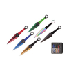 6pc Stainless Steel Throwing Knives Set 9 Inch Knives with Nylon Sheath
