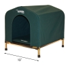 HoundHouse Portable Collapsable Pet Kennel Shelter Green - Small with Scale