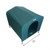 HoundHouse Portable Collapsable Pet Kennel Shelter Green - XLarge with Scale